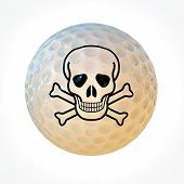 Golf Ball With Skull