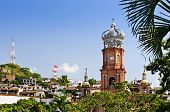 stock photo of guadalupe  - Our Lady of Guadalupe church in Puerto Vallarta - JPG