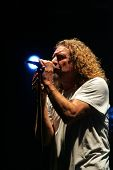 BUDAPEST - AUG 9: Robert Plant, former frontman for Led Zeppelin, performs in concert at the annual