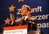 VIENNA, AUSTRIA - FEB 3: Austrian far-right politician Joerg Haider speaks in Vienna, Austria, on Th