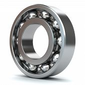 pic of bearings  - Chrome bearings isolated on white background 3D - JPG