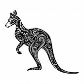stock photo of kangaroo  - Vector Decorative Original Kangaroo - JPG
