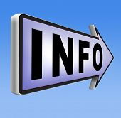 picture of more info  - information sign  banner or label to search more details and find online info  - JPG