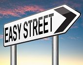 image of comfort  - easy street indicating easy solutions or a way to avoid problems safe way taking risk comfortable comfort zone secure route safe way - JPG