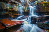 stock photo of waterfalls  - Tropical waterfall - JPG