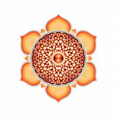 foto of kundalini  - Illustration of a orange sacral chakra mandala - JPG