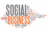 stock photo of maxim  - Word Cloud with Social Business related tags - JPG