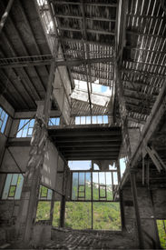 pic of ore lead  - Old abandoned mining factory unit processing lead - JPG