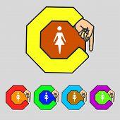 stock photo of female toilet  - Female sign icon - JPG