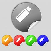 picture of memory stick  - Usb sign icon - JPG