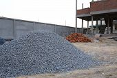pic of sand gravel  - piles gravel used for material construction site - JPG