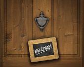 Постер, плакат: Добро пожаловать знак