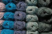 stock photo of knitting  - Knitting yarn balls - JPG