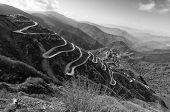 image of curvy  - Beautiful Curvy roads on Old Silk Route Silk trading route between China and India Sikkim - JPG