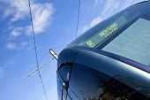 stock photo of bordeaux  - Detail of a streetcar in the city of Bordeaux France - JPG
