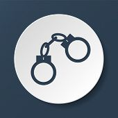 picture of handcuff  - handcuffs icon - JPG