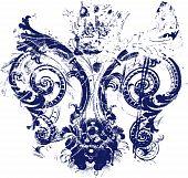 stock photo of fleur de lis  - fleur de lis symbol texture for your label - JPG