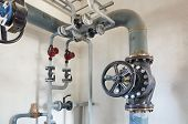 picture of boiler  - Place in a large industrial boiler room - JPG