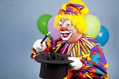 Clown goochelaar