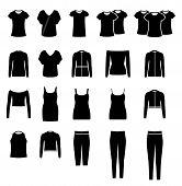 stock photo of glyphs  - Women clothes set - JPG