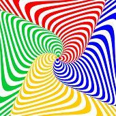 image of distort  - Design colorful swirl circular movement illusion background - JPG