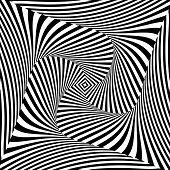 stock photo of distort  - Design monochrome vortex movement illusion background - JPG