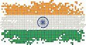 stock photo of indian flag  - Indian grunge tile flag - JPG