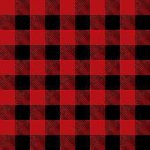 stock photo of tile  - A flannel pattern illustration in red in black - JPG
