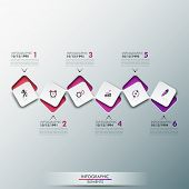 picture of process  - Modern infographics process template with paper sheets - JPG