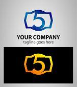 picture of 5s  - Number logo design - JPG