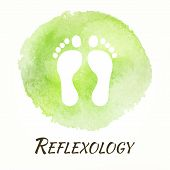 picture of reflexology  - Reflexology Vector Watercolor Concept - JPG