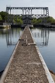picture of hydraulics  - Old hydraulic boat lifts and historic Canal du Centre - JPG