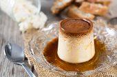 foto of custard  - Custard and caramel cheese made with natural products - JPG