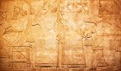 image of babylon  - Ancient sumerian stone carving with cuneiform scripting - JPG