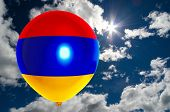 Постер, плакат: Balloon With Flag Of Armenia On Sky