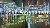 image of self assessment  - Background concept wordcloud illustration of self - JPG