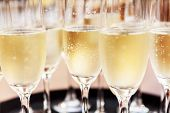 stock photo of champagne color  - champagne glasses - JPG
