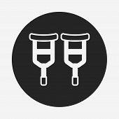 foto of crutch  - Crutch Icon - JPG