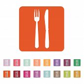 picture of knife  - The knife and fork icon - JPG