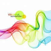 stock photo of smoking  - Abstract colorful wave background - JPG