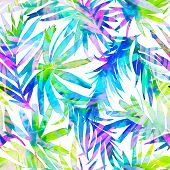 pic of jungle exotic  - seamless double exposure tropical pattern - JPG