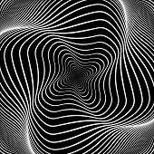 pic of distortion  - Design monochrome swirl movement illusion background - JPG