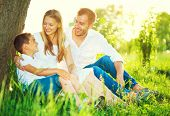foto of mood  - Happy joyful young family father - JPG