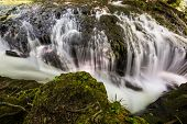 picture of backwoods  - Waterfall Landscape in the Mountains - JPG