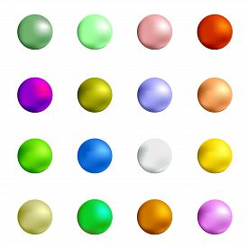 image of gumballs  - Colorful Sweet Gumball Isolated on White Background - JPG