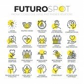 Conscious Living Futuro Spot Icons poster