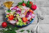 ������, ������: Fresh Vegetables Salad