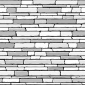 Stone wall. Seamless. Vector illustration.