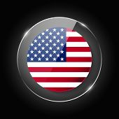 United States Of America, Usa National Flag. Application Language Symbol. Country Of Manufacture Ico poster