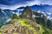 Machu Picchu, Peru. Unesco World Heritage Site. One Of The New Seven Wonders Of The World poster
